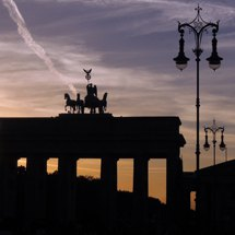 Sundown at the Brandenburg Gate