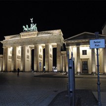 Night on Pariser Platz with the Brandenburger Tor