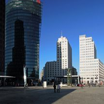 Potsdamer Platz on a Sunday morning