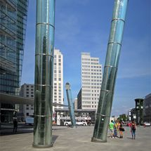 Light tubes on Potsdamer Platz