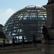 glass dome of the Reichstag building