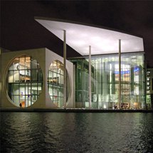 Marie-Elisabeth-Lüders-Haus on Spree river in the government district