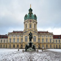 Charlottenburg Palace main entrance in winter