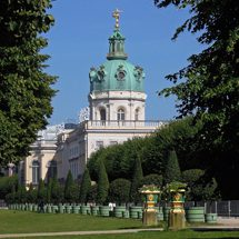 Behind the west wing of Charlottenburg Palace
