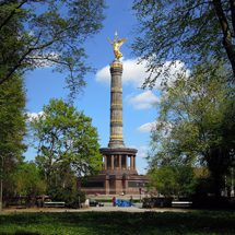 Victory Column in the Tiergarten park in spring time